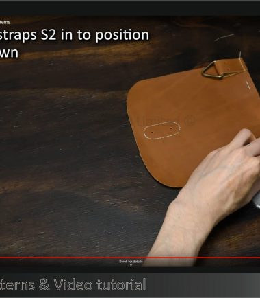 assembling leather bag using sewing machine
