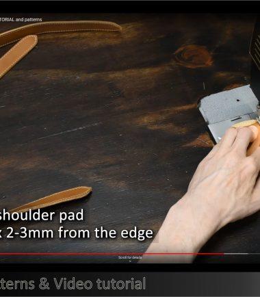 bag strap assembled using sewing machine