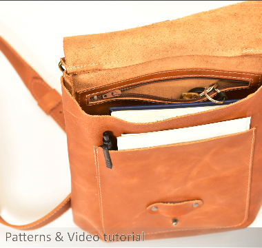 insode of a cross body bag with items inside