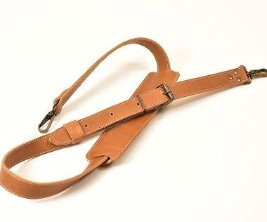 brown leather bag strap