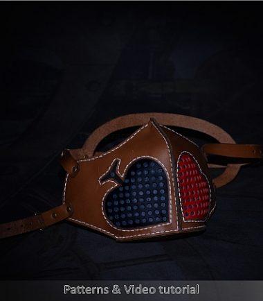 Leather face mask pdf pattern