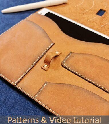 ipad mini leather sleeve DIY tutorial 1